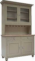 Neptune - Suffolk 4Ft Glazed Rack Dresser With Drawers