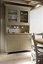 Neptune Suffolk 4Ft Glazed Rack Dresser With Drawers