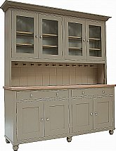 Neptune - Suffolk 6Ft Glazed Rack Dresser With Drawers