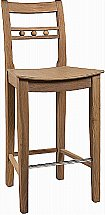 Neptune - Suffolk Seasoned Oak Bar Stool