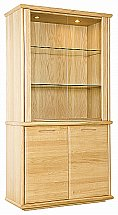 Vale Furnishers - Bruges Two Door Display Unit