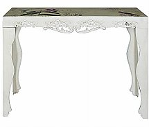 Vale Furnishers -  Painted Orchid Metal Console Table