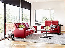 Stressless Arion Sofas in Chilli Red