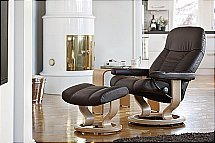 Stressless Consul Chair and Footstool