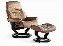 Stressless Sunrise Recliner Chair and Stool