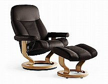 Stressless Ambassador Chair and Stool