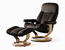 Stressless Diplomat Chair and Stool