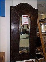 Theodore Alexander Leather Mirror