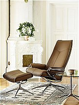 Stressless City Recliner Chair in Paloma Taupe