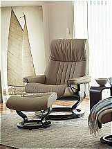 Stressless Crown Recliner Chair in Batick Mole