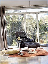 Stressless Reno Recliner Chair in Cori Brown