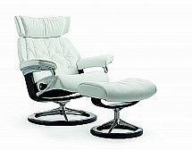 Stressless Skyline Recliner Chair in Batick Snow