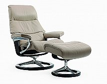 Stressless View Recliner Chair in Cori Beige
