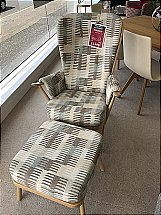 Ercol Evergreen Chair and Stool