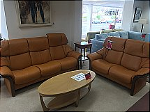 Stressless Eldorado 3 Seater and 2 Seater Leather Suite
