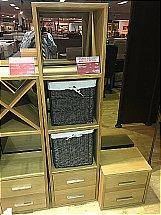 Mackay Collection Royal Oak 4 Tier Unit inc 2 Baskets