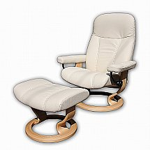 Stressless - Ambassador in Batick Cream and Natural Base  