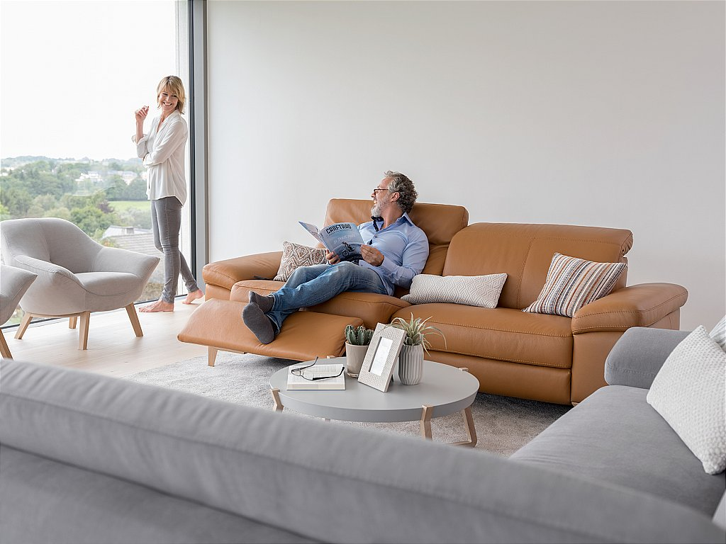 Awesome Cadini Leather Sofa Cjindustries Chair Design For Home Cjindustriesco
