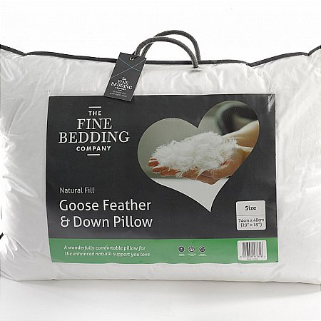 The Fine Bedding Company - Goose Feather and Down Pillow