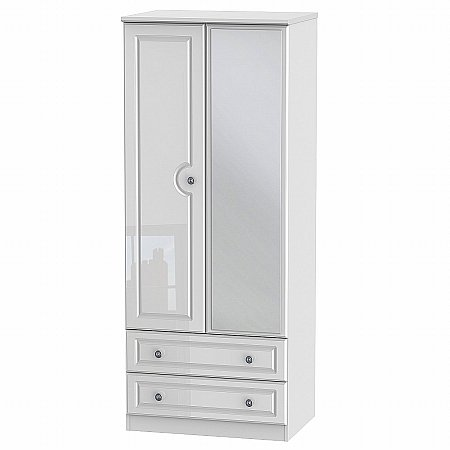 Sturtons - Solent 2 Drawer Tall Mirror Robe