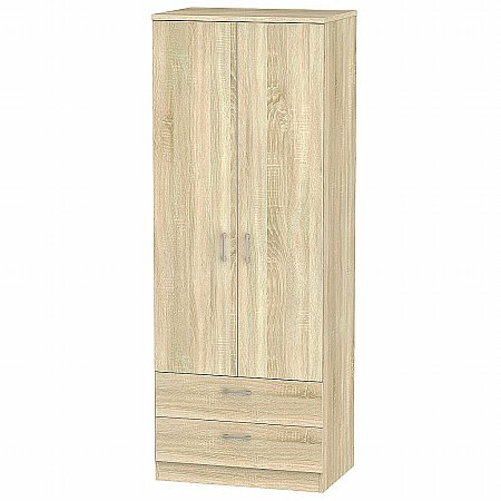 Sturtons - Stour Tall 2 Door 2 Drawer Wardrobe