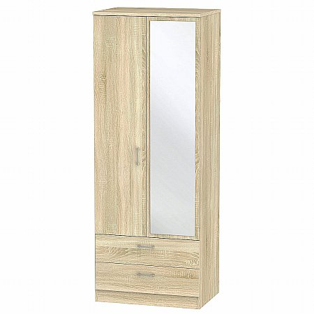 Sturtons - Stour 2 Drawer 2 Door Mirror Robe