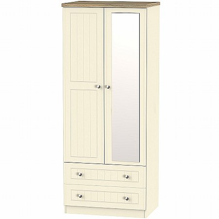 Sturtons - Salzburg 2ft6in 2 Drawer Mirror Robe