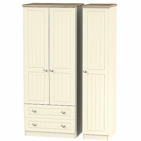 Sturtons - Salzburg Triple 2 Drawer Robe