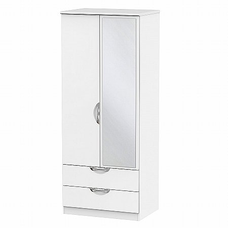Sturtons - Hamble 2ft 6in 2 Drawer Mirror Robe