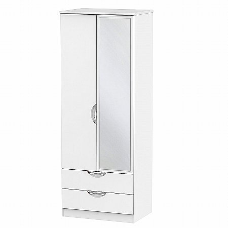 Sturtons - Hamble Tall 2ft 6in 2 Drawer Mirror Robe