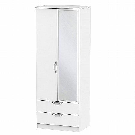 Sturtons - Hamble Tall 2ft 6in 2 Drawer Mirror Robe