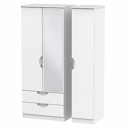 Sturtons - Hamble Triple 2 Drawer Mirror Robe