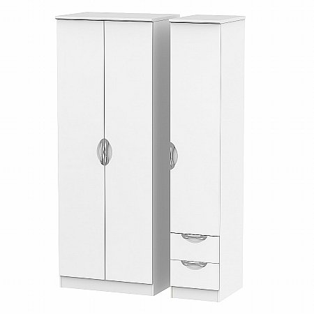 Sturtons - Hamble Tall Triple Plain and Drawer Robe