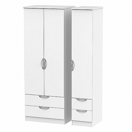 Sturtons - Hamble Tall Triple 2 Drawer and Drawer Robe