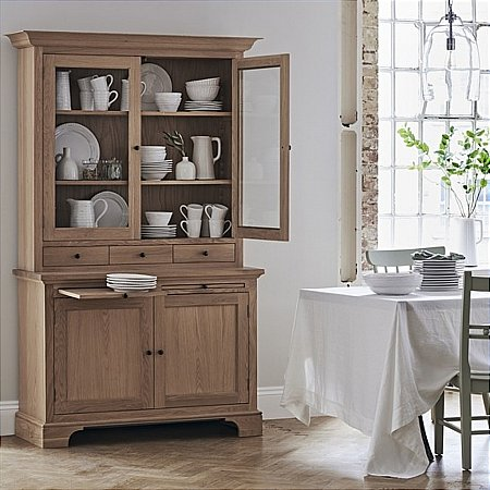 Neptune - Henley 4ft Glazed Rack Dresser