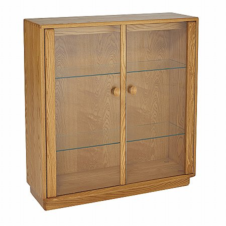 Ercol - Windsor Low Wide Display Cabinet